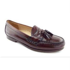 COLE HAAN Brown Leather Tassel Loafers Slip On 9.5